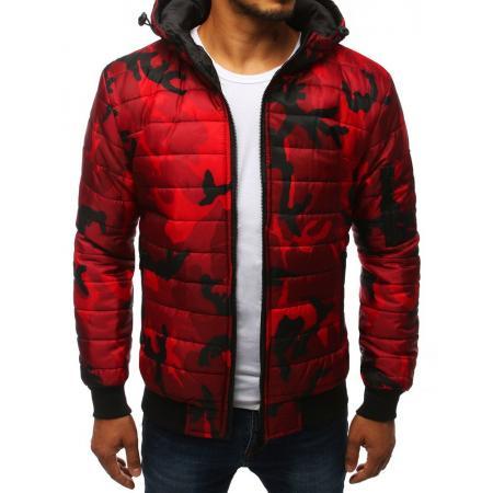 Pánska SPRING bunda prešívaná bomber jacket moro maskáčová červená