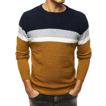 Pánsky MODERN sveter hnedý