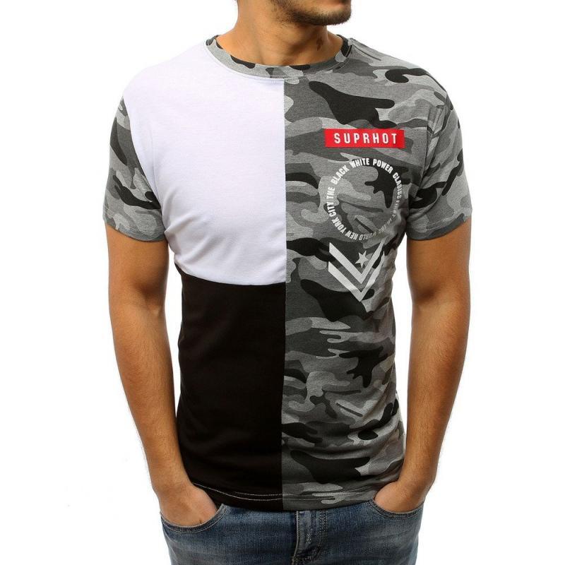 25a85b6c0fbe Pánske ELEGANT tričko s potlačou bielo-čierne