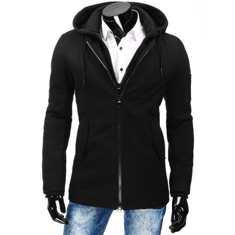 Čierny pánsky zimný kabát  e0f32437659