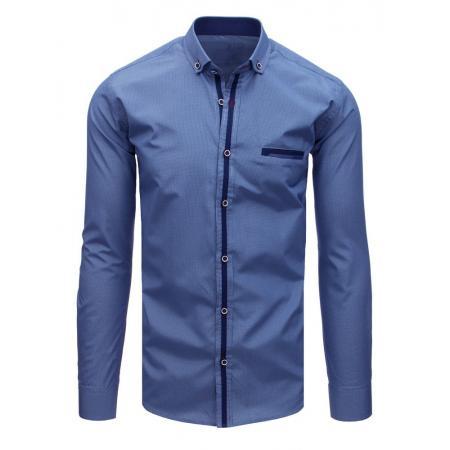 Pánska MODERN košeľa mriežkovaná tmavo modrá a4ca4e7a0fb