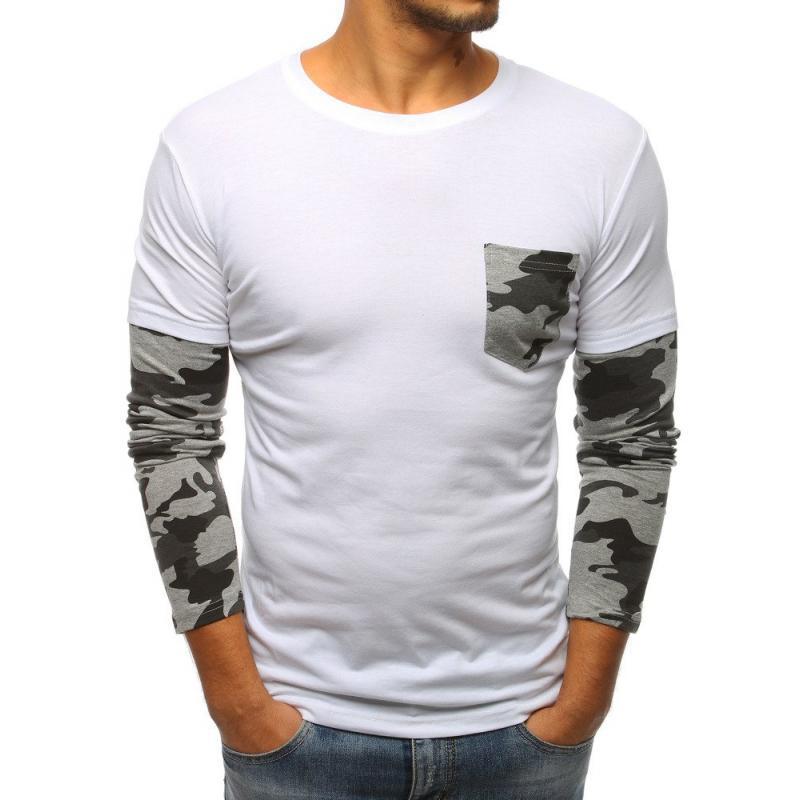 43ea31d57676 Pánske tričko s dlhým rukávom bielej