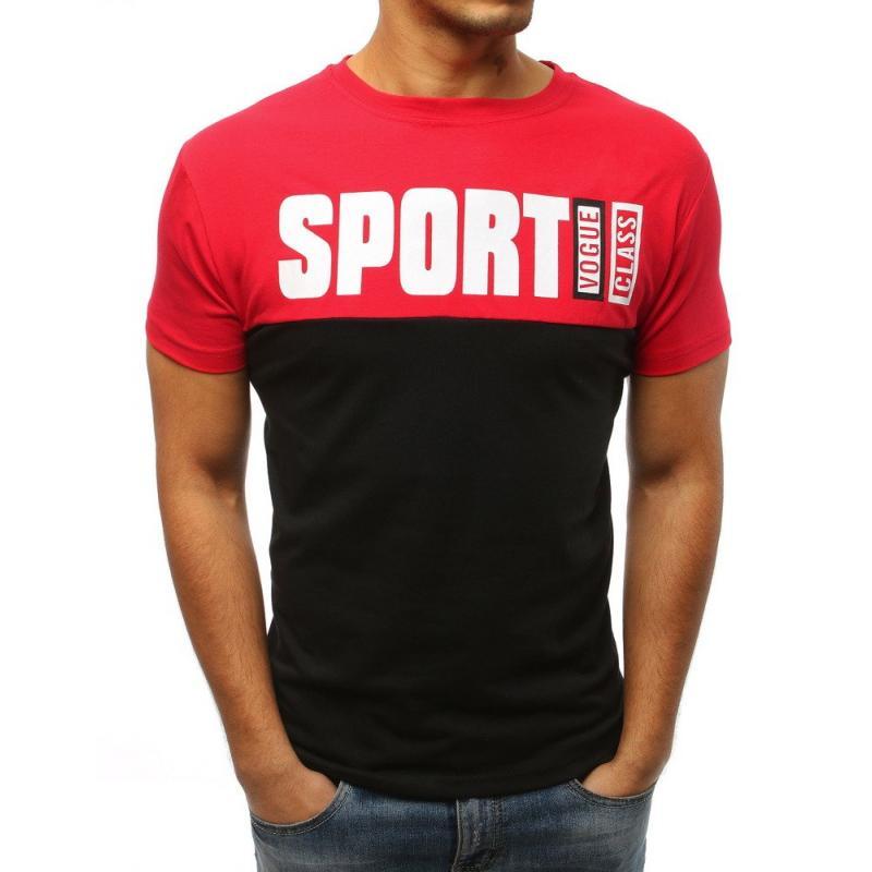 7f7aeda5b5e8 Pánske tričko STYLE s potlačou červenej