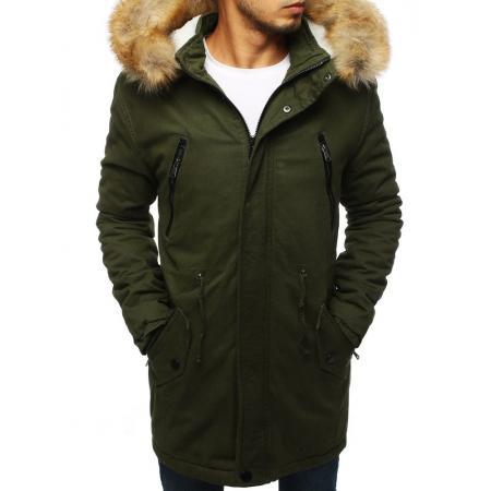 Pánska STYLE bunda parka zimná - zateplená khaki