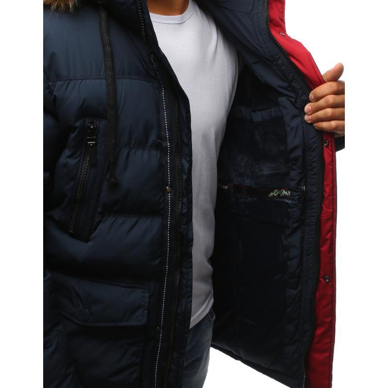 6f468333fb Zimná pánska bunda prešívaná granátová