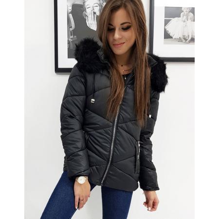 Dámska bunda prešívaná CARLA zimná čierna