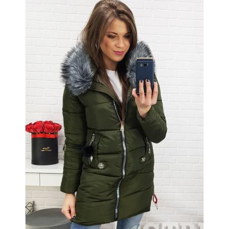 Bunda dámska REGINA zimná prešívaná khaki