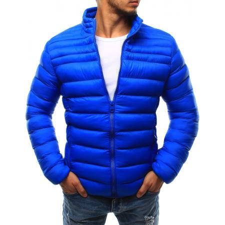 Pánska bunda prešívaná bez kapucne svetle modrá 99ccf0305c0
