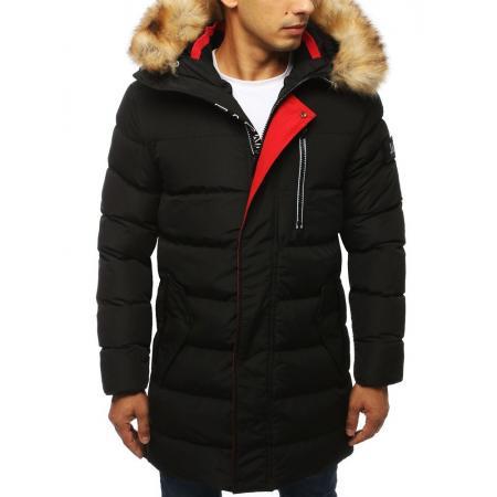 Pánska STYLE bunda parka zimná - zateplená vypchatá / prešívaná čierna