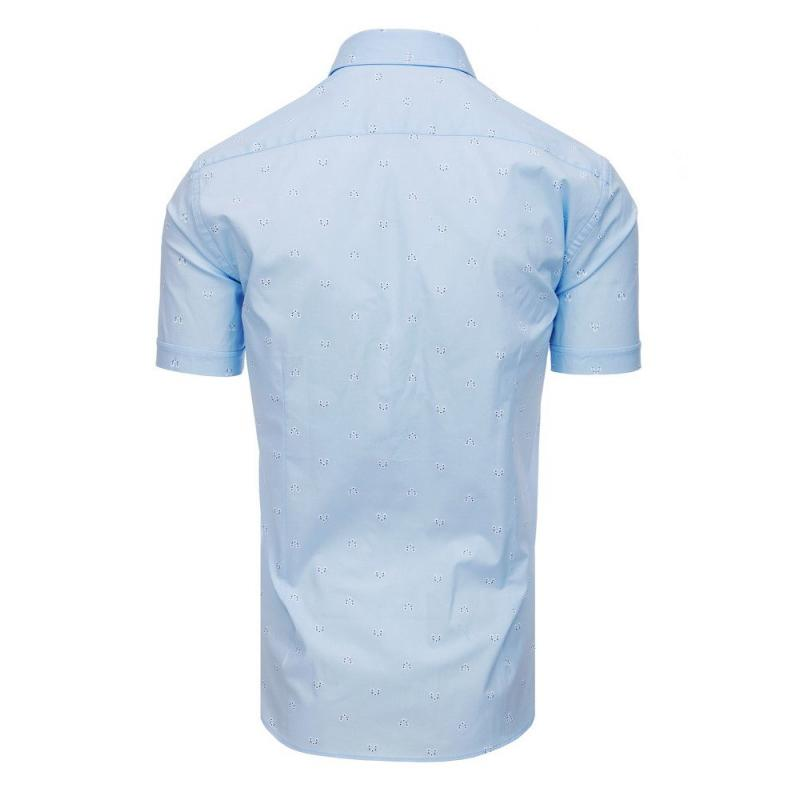 b75617190ed1 Elegantná pánska košeľa so vzorom s krátkym rukávom biela