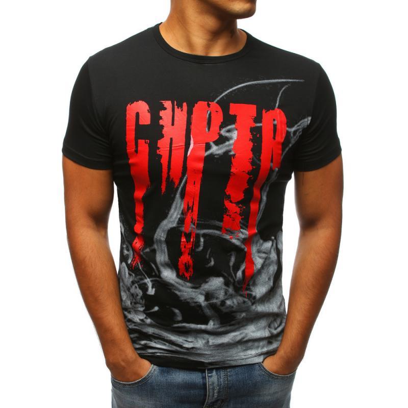 ae139b0c9d13 Pánske tričko čiernej s potlačou
