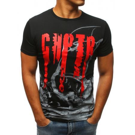 c1032f15909f Pánske tričko čiernej s potlačou