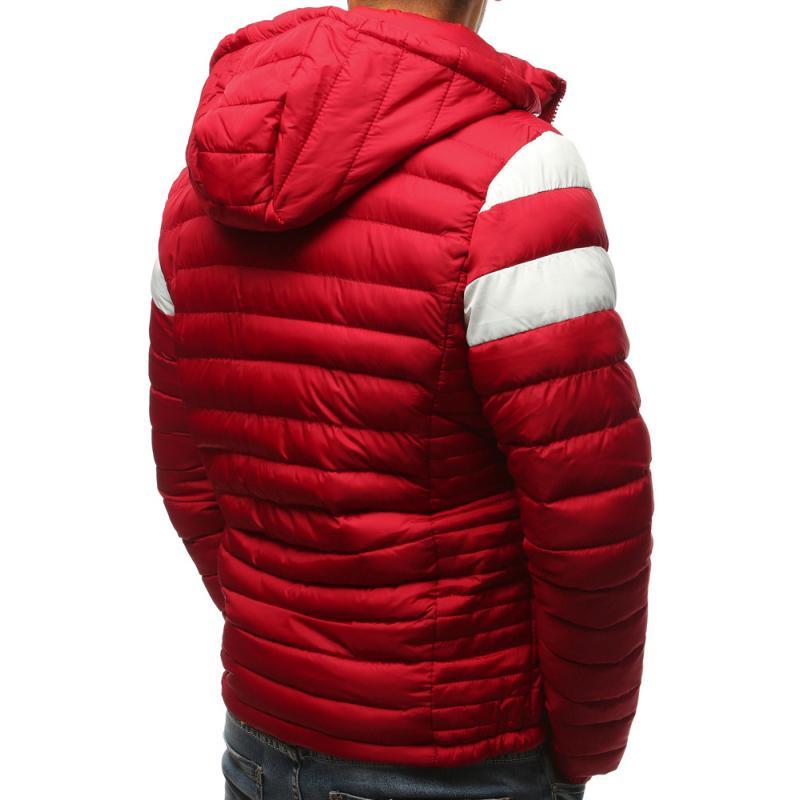 Pánska prešívaná zimná červená bunda  48632d05598