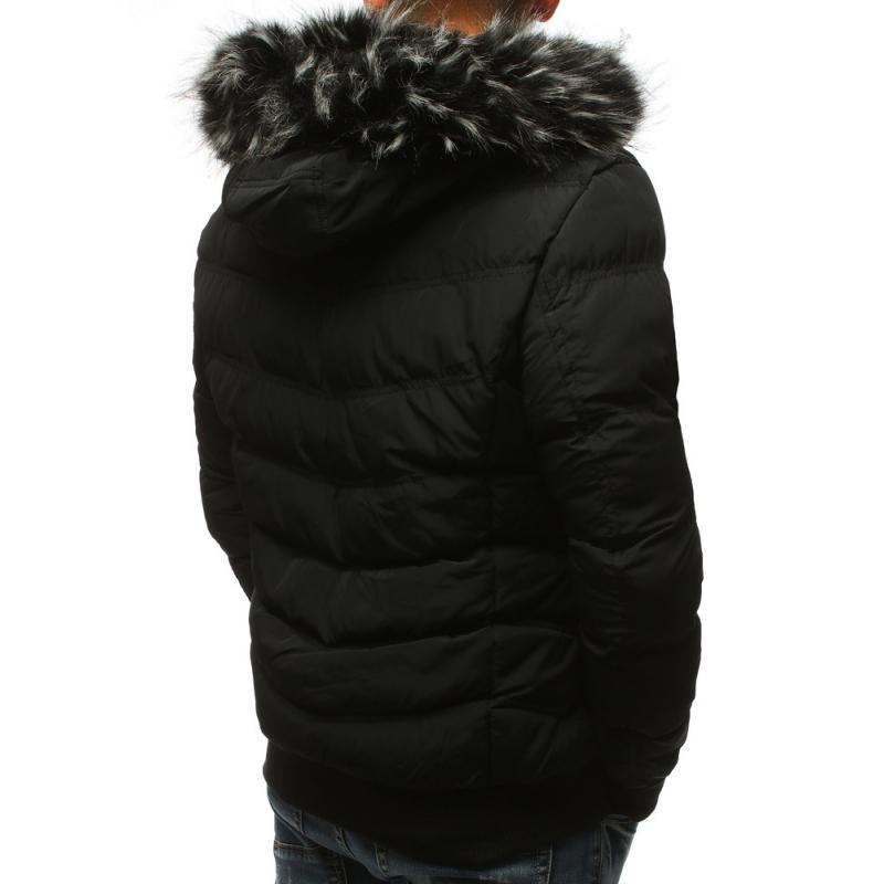 593072d51a36 Pánska zimná bunda prešívaná čierna