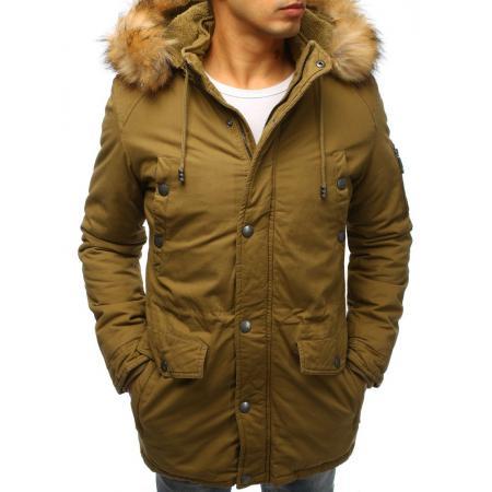 Pánska zimná bunda parka khaki
