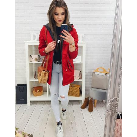Obojstranná bunda dámska parka SPEED červená