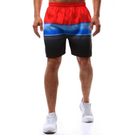 Pánske kúpacie šortky červeno-modro-čierne ceff46e6583