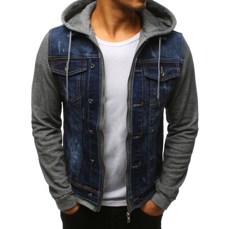 Pánska džínsová bunda modrá  053629bb4d4