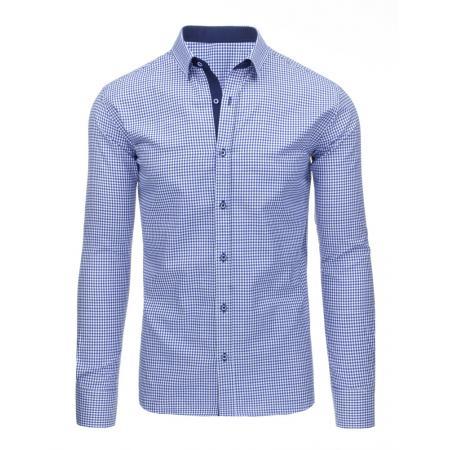Pánska kockovaná modrá košele