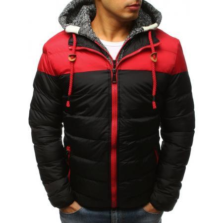 Pánska zimná bunda prešívaná čierna