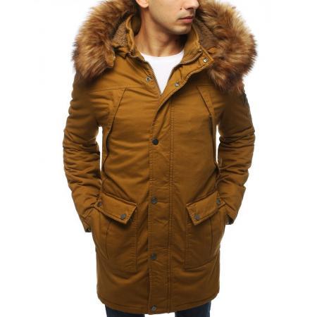 Pánska bunda parka zimná hnedá TX3060