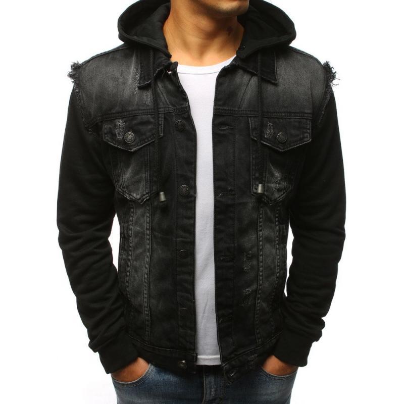 Pánska bunda džísky čierna  35e9a68d6e