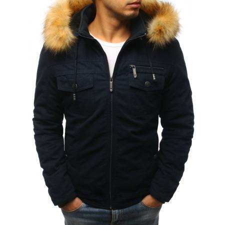 Pánska zimná bunda tmavo modrá