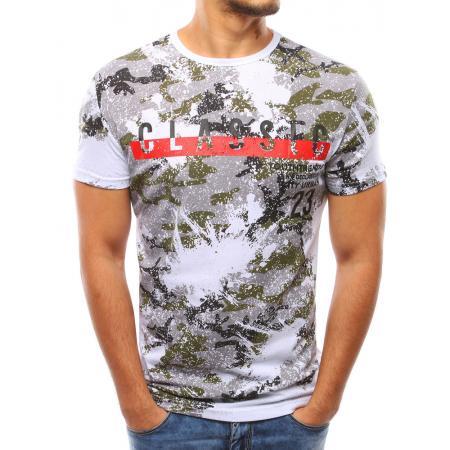 e9d7aa3e14c5 Pánske biele tričko s potlačou STYLE