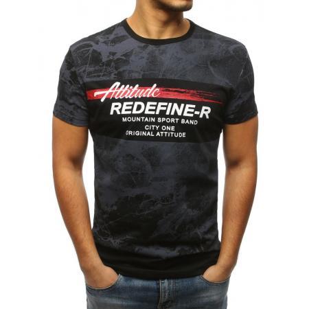 a723c25d01d4 Pánska tričko MODERN s potlačou čiernej