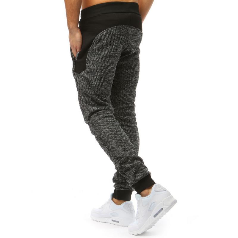 02c03ab81ff2 Pánske nohavice šedo čierne