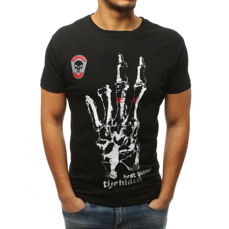 f46356253d03 Pánske ELEGANT tričko s potlačou čiernej