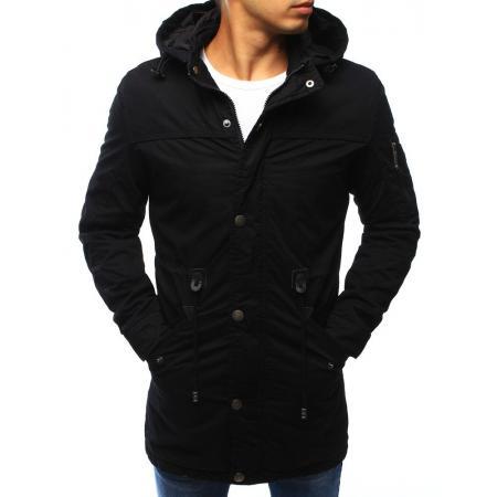 Panská zimní bunda - parka čierna