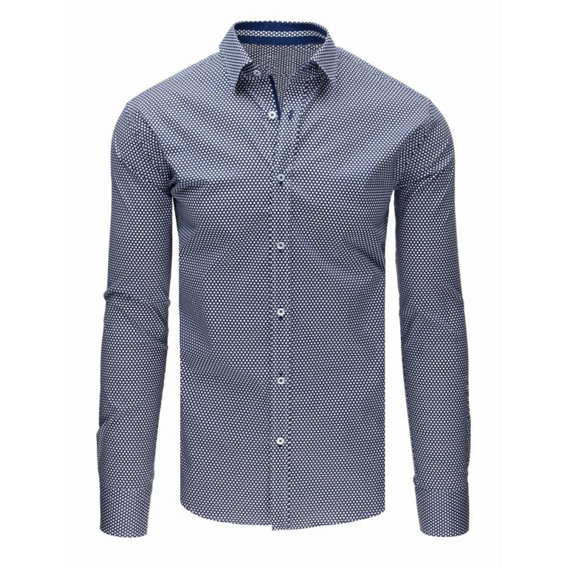 feeb1b410f40 Pánska ELEGANT košeľa tmavo tmavo modrá