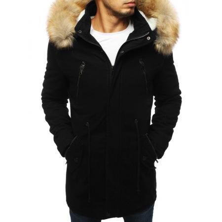 Pánska STYLE bunda parka zimná - zateplená čierna