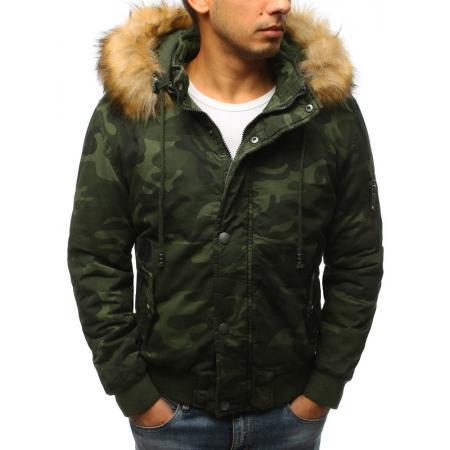 Pánska zimná bunda woodland maskáčová