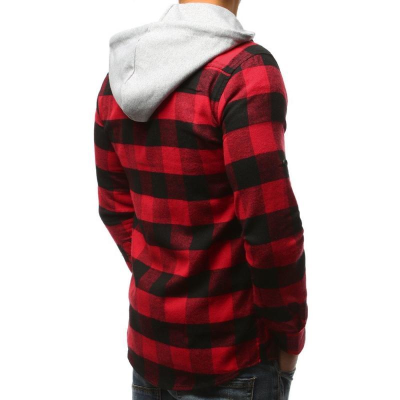 839cab13a9da Pánska STYLE košeľa pruhovaná čierno-červená