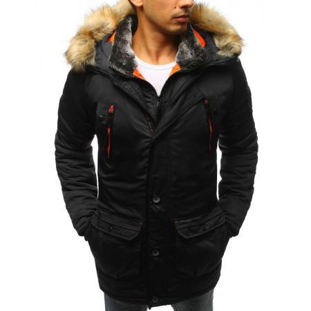 Pánska MODERN bunda zimná čierna