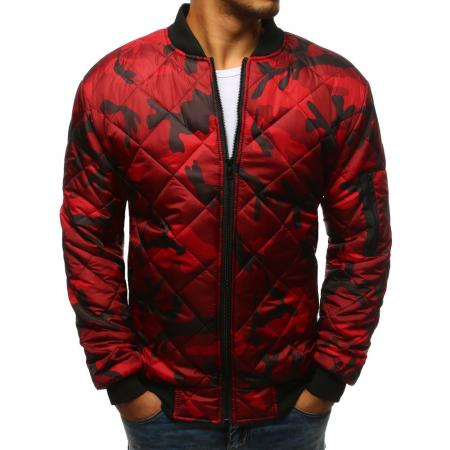 Pánska maskáčová STYLE bunda prešívaná bomber jacket camo červená 4f09d1ac369