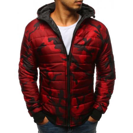Pánska STYLE bunda prešívaná bomber jacket camo červená 2a7d557d09e