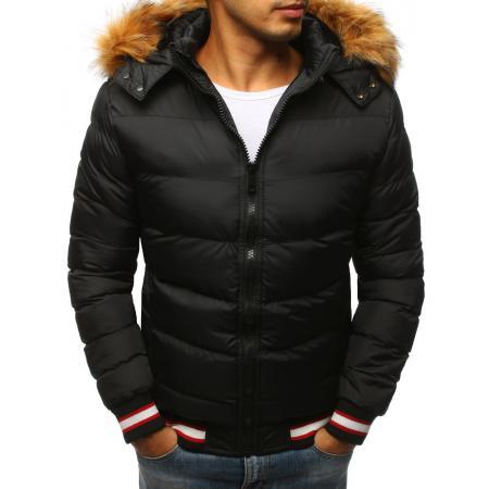 Pánska prešívaná zimná bunda čierna