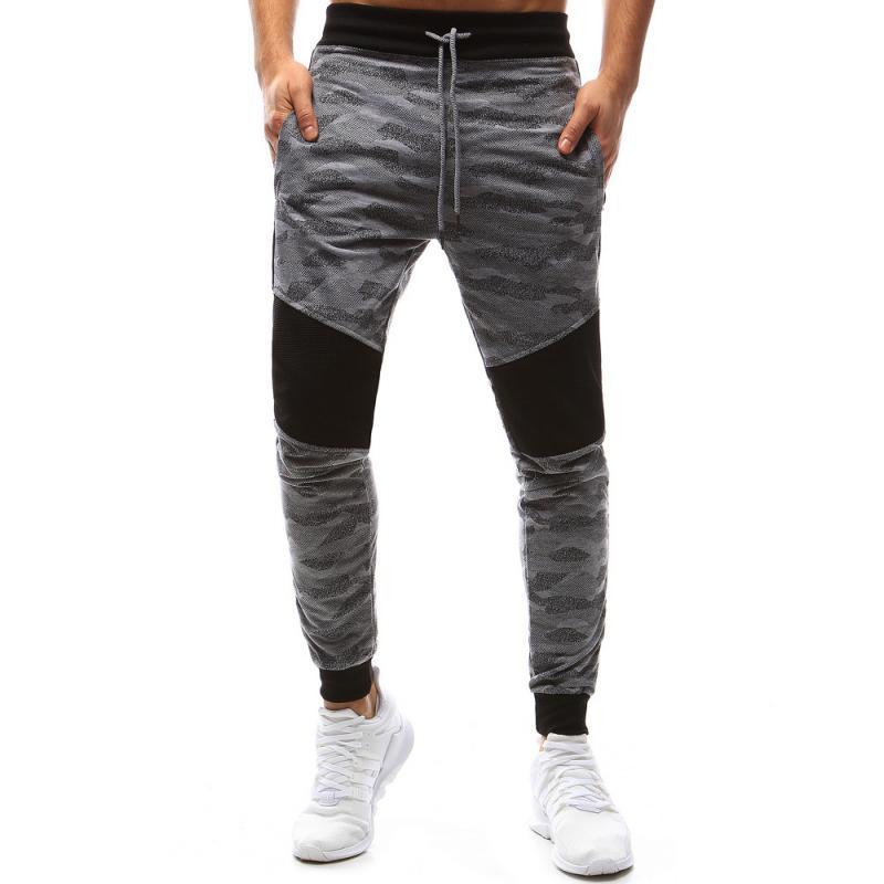 Pánske nohavice maskáče šedé tepláky  a288d18be6c