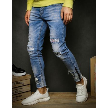 Pánske jeansy modrej UX2349