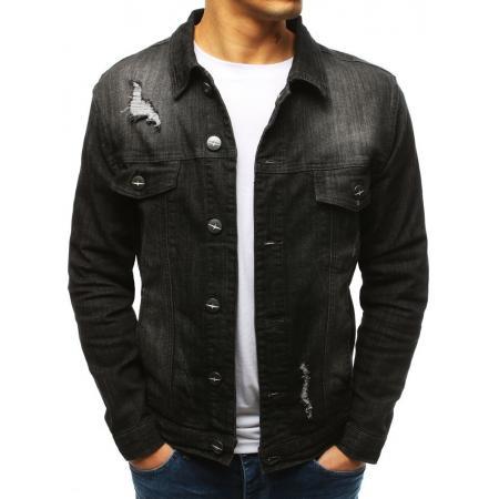 Pánska jeansová bunda čierna
